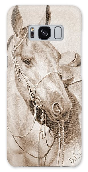 Horse Drawing Galaxy Case by Eleonora Perlic