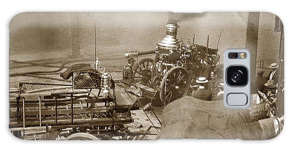 Horse Drawn Water Steam Pumper Fire Truck Circa 1906 Galaxy Case