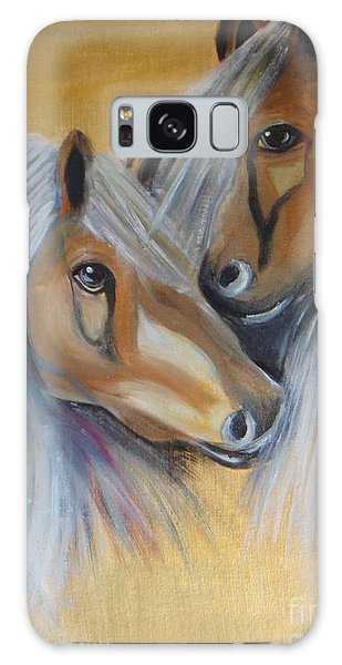 Horse Duo Galaxy Case by Saranya Haridasan