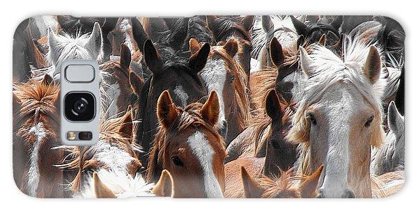 Horse Faces Galaxy Case