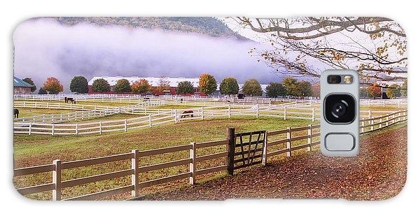 Horse Farm Autumn Galaxy Case