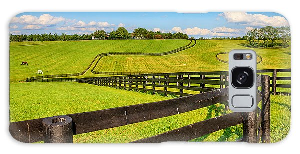 Horse Farm Fences Galaxy Case