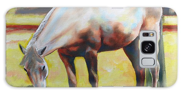 Horse Grazing In The Shade Galaxy Case