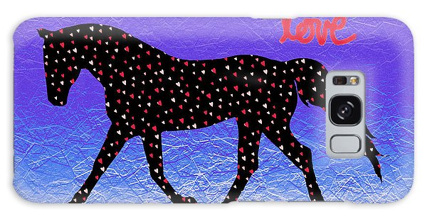 Horse Hearts And Love Galaxy Case by Patricia Barmatz