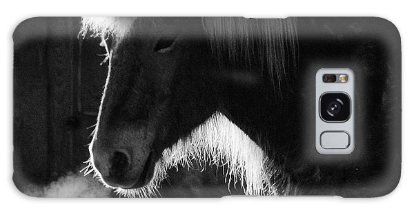 Horse In Black And White Square Format Galaxy Case