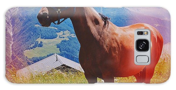 Horse In The Alps Galaxy Case