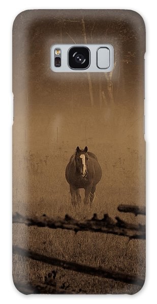 Galaxy Case - Horse In The Mist by Cheryl Baxter