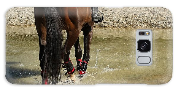 Horse In Water Galaxy Case
