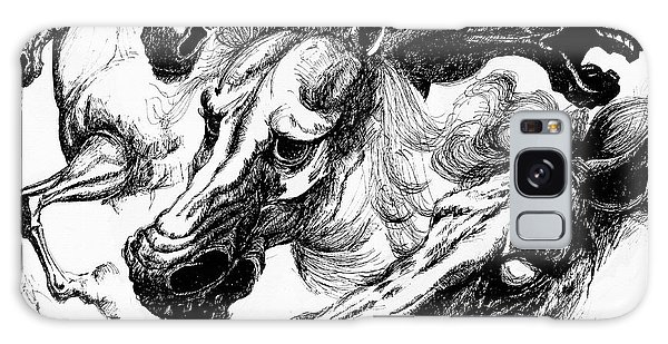 Horse Ink Drawing  Galaxy Case