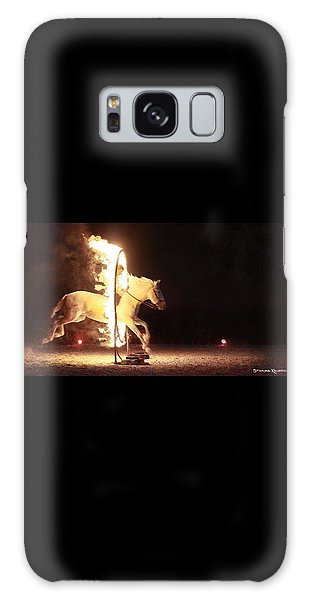Galaxy Case featuring the photograph Horse On Fire by Stwayne Keubrick