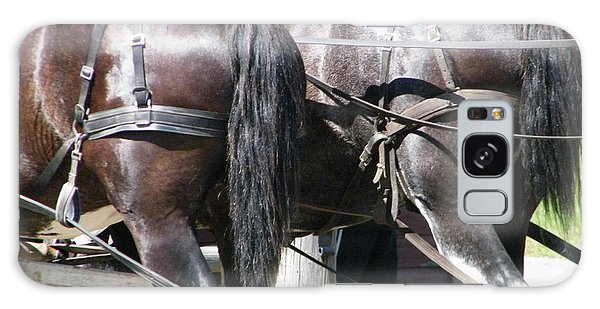 Galaxy Case featuring the photograph Horse Power by Ann E Robson
