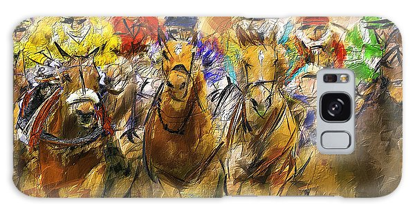 Horse Racing Abstract Galaxy Case