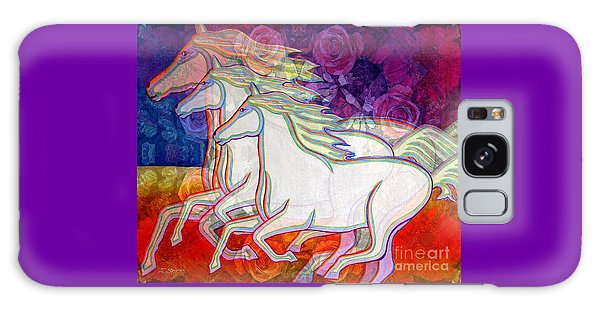 Horse Spirits Running Galaxy Case