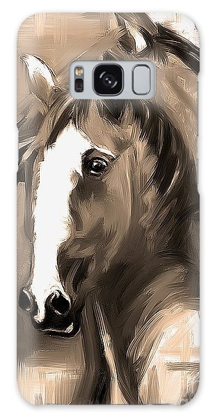 Horse Together 1 Sepia Galaxy Case by Go Van Kampen