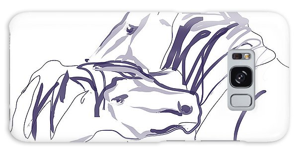 Horse - Together 10 Galaxy Case by Go Van Kampen