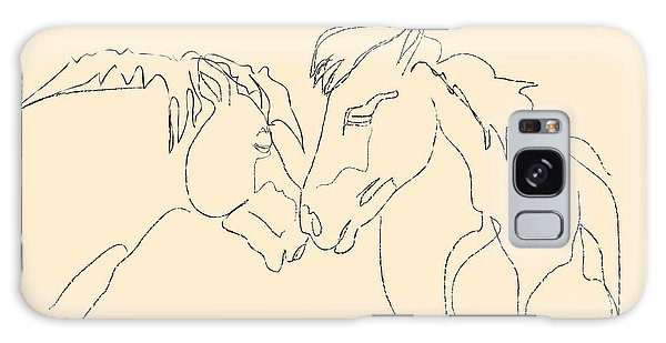 Horse - Together 3 Galaxy Case by Go Van Kampen