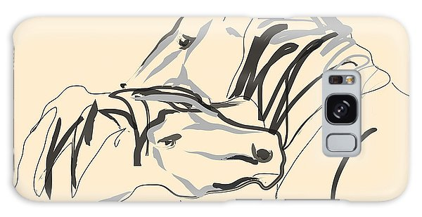 Horse - Together 4 Galaxy Case by Go Van Kampen