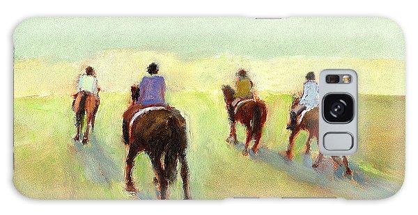 Horseback Riders Galaxy Case