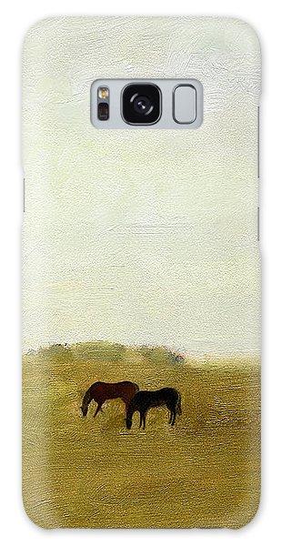 Horses Afield Galaxy Case