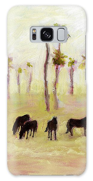 Horses And Palm Trees Galaxy Case