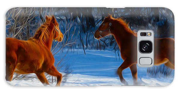 Horses At Play Galaxy Case