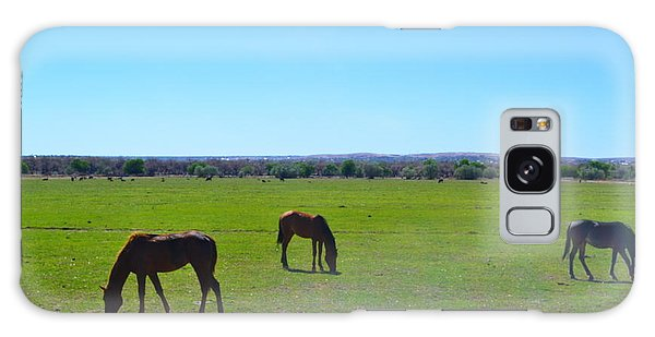 Horses In New Mexico Galaxy Case