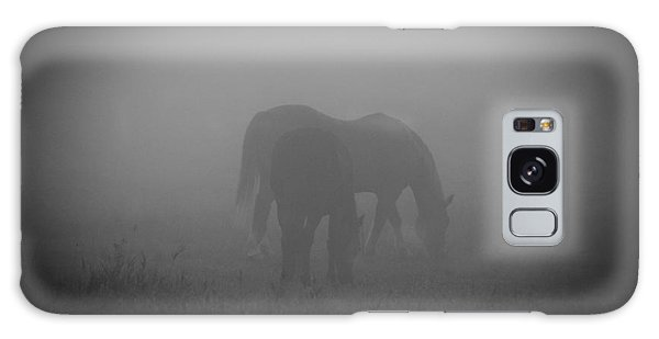 Horses In The Mist. Galaxy Case by Cheryl Baxter
