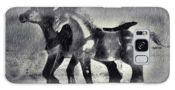 Horses In Twilight Galaxy Case