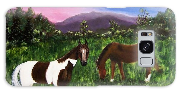 Horses Galaxy Case by Jamie Frier