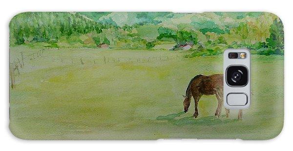 Horses Mare Foal Pastures Rural Landscape Original Art Oregon Western Artist K. Joann Russell Galaxy Case