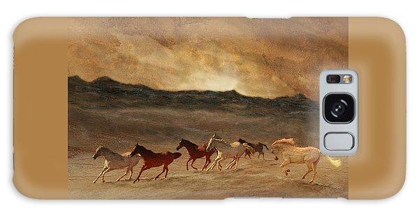 Horses Of Stone Galaxy Case by Melinda Hughes-Berland