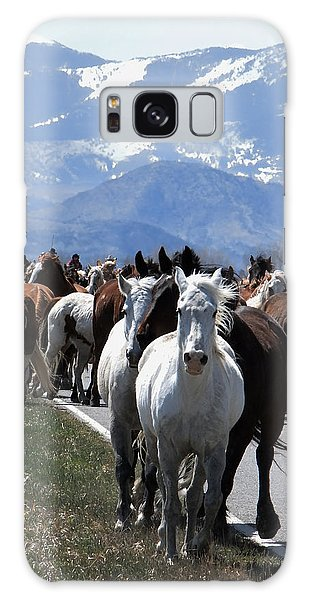 Horses On Road Galaxy Case