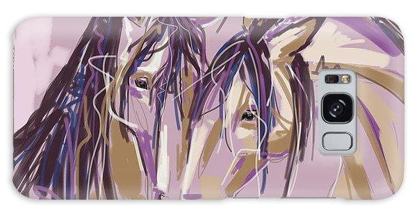 horses Purple pair Galaxy Case by Go Van Kampen