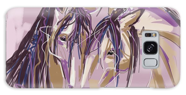 horses Purple pair Galaxy Case