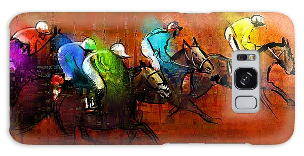 Horses Racing 01 Galaxy Case