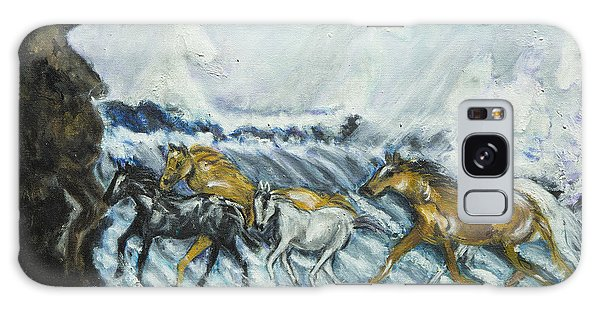Horses Running Galaxy Case