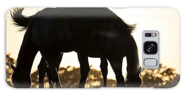 Horses Sunset Galaxy Case by Michael Mogensen