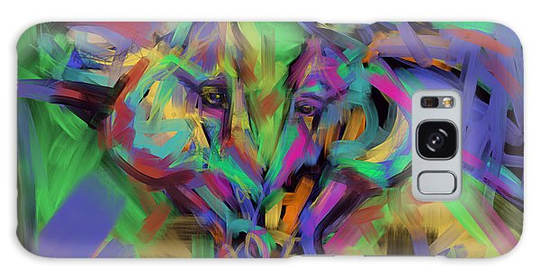 Horses Together In Colour Galaxy Case by Go Van Kampen