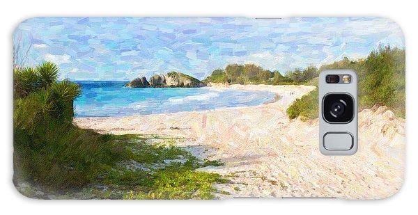 Horseshoe Bay In Bermuda Galaxy Case by Verena Matthew