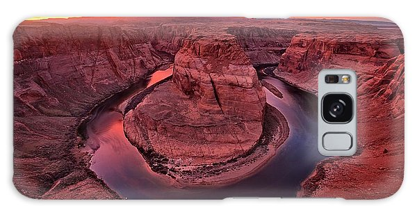 Horseshoe Bend Sunset Galaxy Case