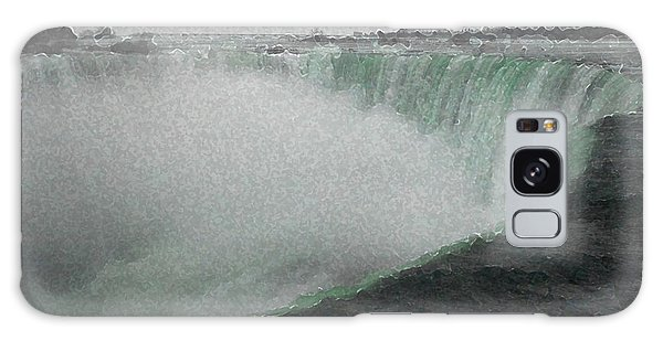 Horseshoe Falls In Winter Galaxy Case