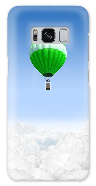Hot Air Balloons Galaxy Case - Hot Air Balloon Above The Clouds by Allan Swart