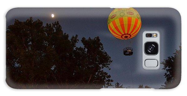 Hot Air Balloon At Night  Galaxy Case