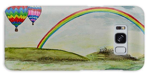 Hot Air Balloon Rainbow Galaxy Case