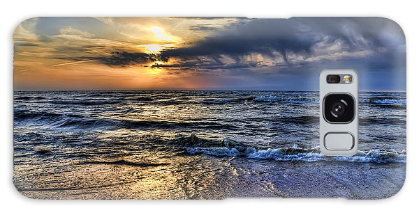 Hot April Sunset Saugatuck Michigan Galaxy Case