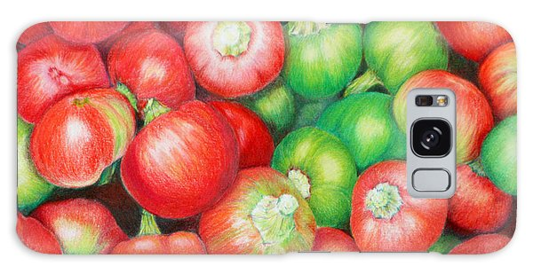 Hot Cherry Peppers Galaxy Case by Mariarosa Rockefeller