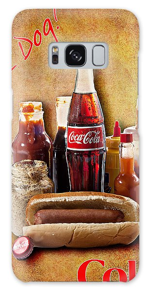 Galaxy Case featuring the photograph Hot Dog And Cold Coca-cola by James Sage