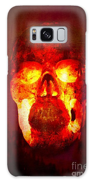 Hot Headed Skull Galaxy Case