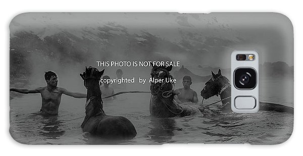 Bath Galaxy Case - Hot  Natural  Spa  Time by Alper Uke