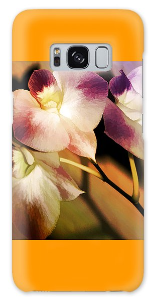 Hot Orchid Nights Galaxy Case by Holly Kempe